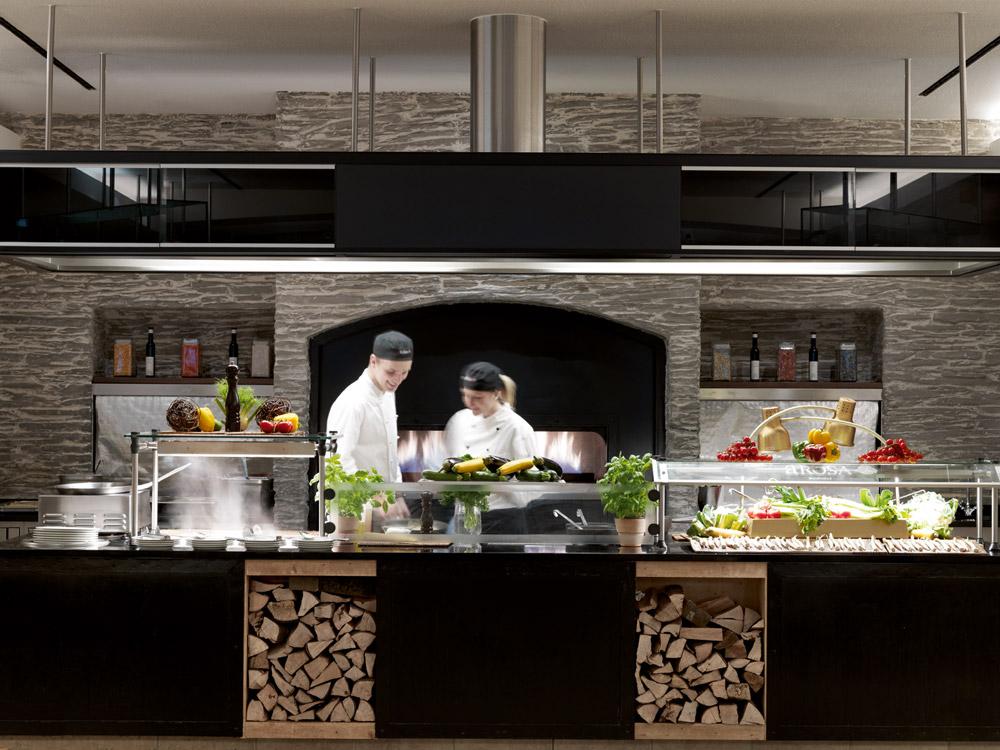 moderne küche im restaurant stockbilder - bild: 29037084. offener ...