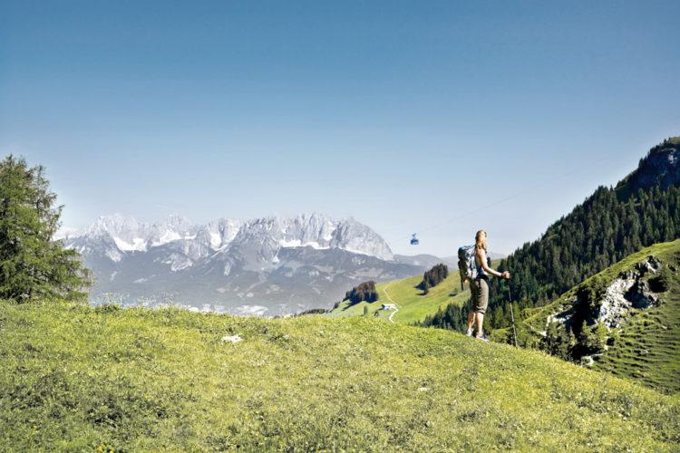 Über 1000 gut ausgebaute Wanderwegen umfassen die Kitzbüheler Alpen