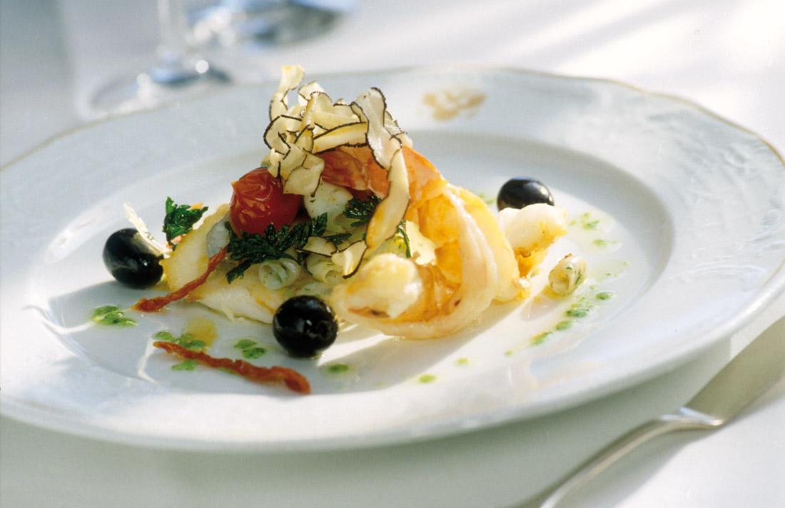 """Fischgericht im Restaurant """"Marie Antoinette"""""""