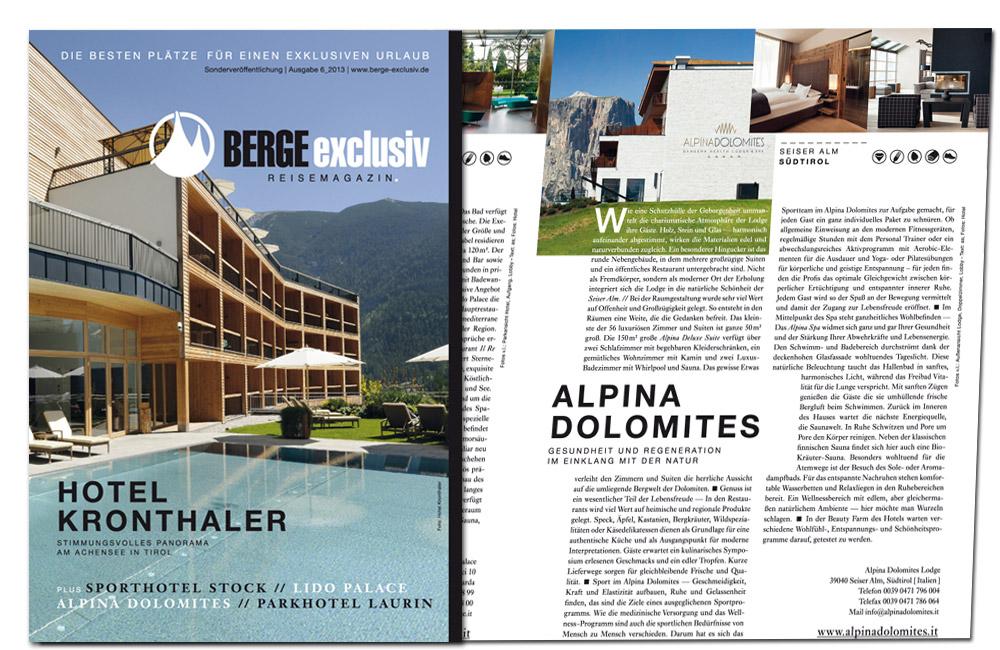 Berge Exclusiv Magazin